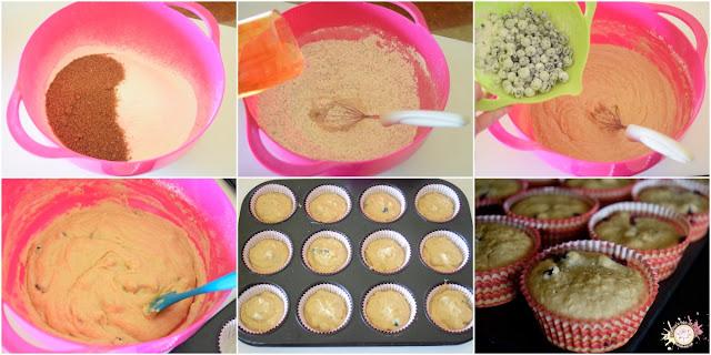 Cupcakes veganos de arándanos y coco