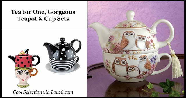 Tea for one, gorgeous teapot and tea cup sets
