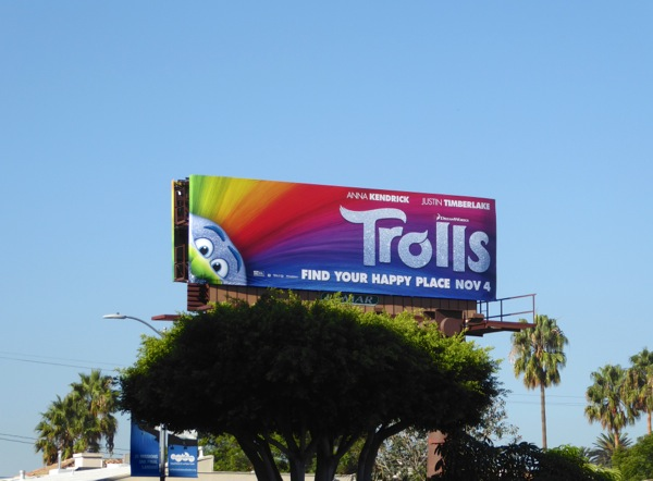 Trolls film billboard