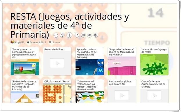 16 juegos, actividades y materiales para la práctica de la RESTA en 4º de Primaria