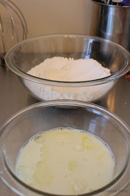 muffin ingredients, flour, sugar, baking powder, salt, egg, milk, sunflower oil