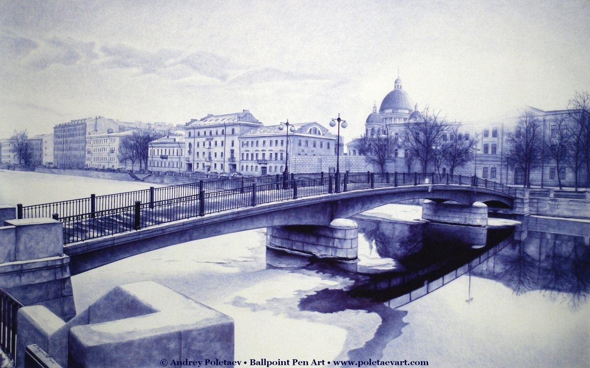08-Bridge-in-England-Andrey-Poletaev-Detailed-Urban-Drawings-achieved-with-a-Ballpoint-Pen-www-designstack-co