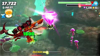 لعبة Hungry Shark World مكركة، لعبة Hungry Shark World مود فري شوبينغ