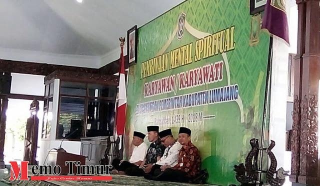 Kegiatan Pembinaan Mental Spritual di Penopo Kabupaten