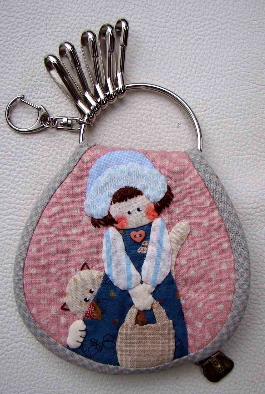 marmalade shabby chic applique key pouch. Black Bedroom Furniture Sets. Home Design Ideas