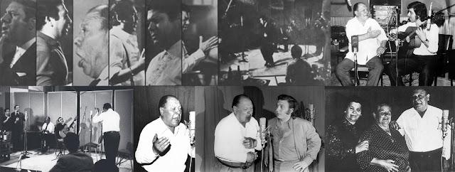 Tío Borrico con el Sernita, El Sordera, Diamante Negro, Romerito, La Perrata, Lebrijano, Paco Cepero, Paco Antequera