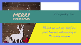 Merry Christmas greetings with deer