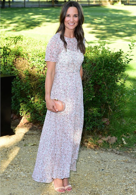 Pippa Middleton woreL.K.Bennett Karo Printed Silk Dress, Princess Eugenie wore ALICE AND OLIVIA Saffron Floral Dress.