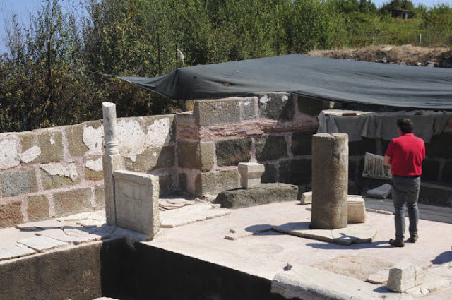 Byzantine tombs, church excavated in ancient Tieion
