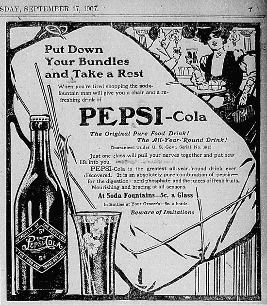 Pepsi-Cola ad 1907