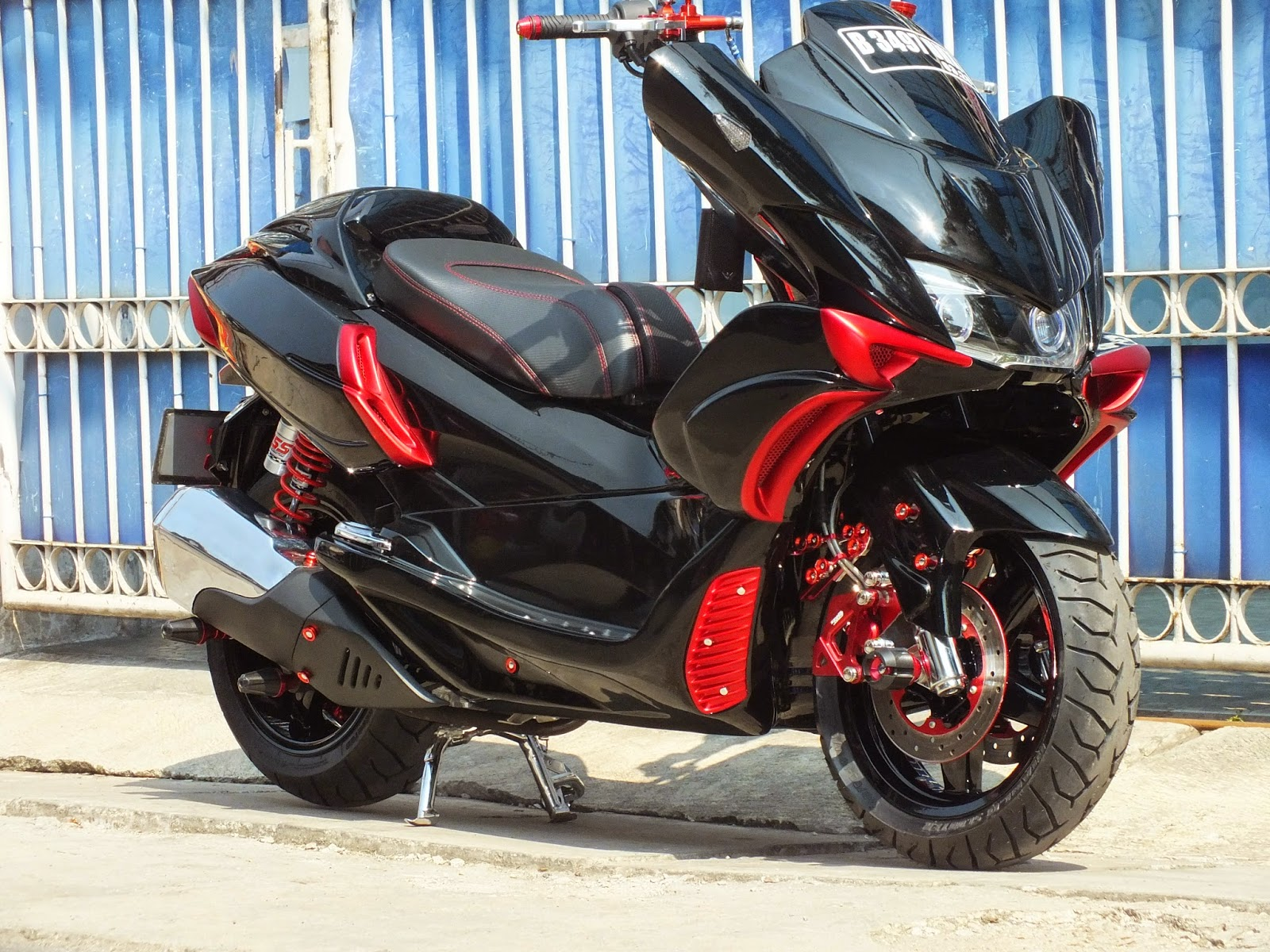 Modifikasi JOK MOTOR HONDA PCX ALL NEW MODIFIKASI SPORTS