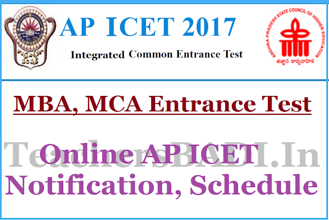 Online AP ICET 2017 Notification, Schedule,MBA,MCA Entrance Test 2017