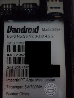 Daftar Lengkap Firmware Advan S5E Sesuai Build No.