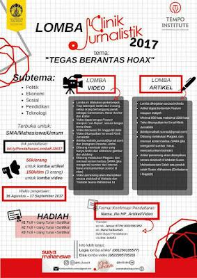 Lomba Video Klinik Jurnalistik 2017 | Univ. Indonesia | SMA-Mahasiswa-Umum