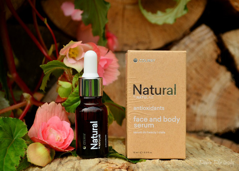 Natural by NATULAB Face and body serum Antioxidants - Serum do twarzy i ciała Colway