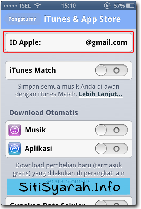 keluar apple ID di iPhone