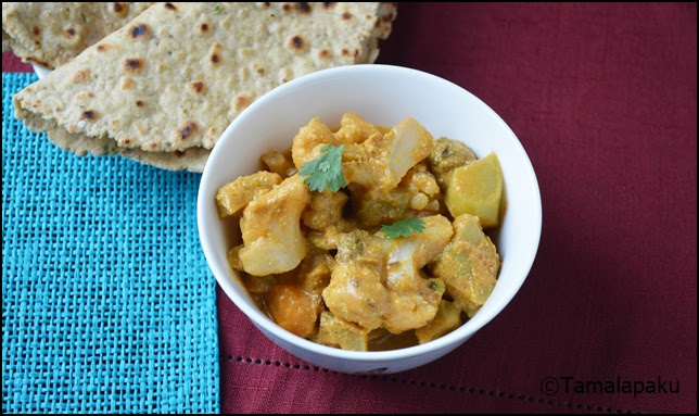 Broccoli-Cauliflower Kurma