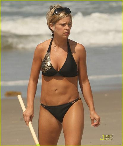 Kate gosselin yellow bikini think, that