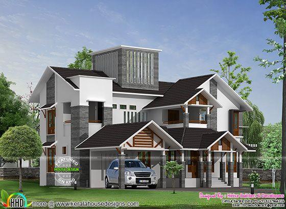 New modern house by Hirise builders
