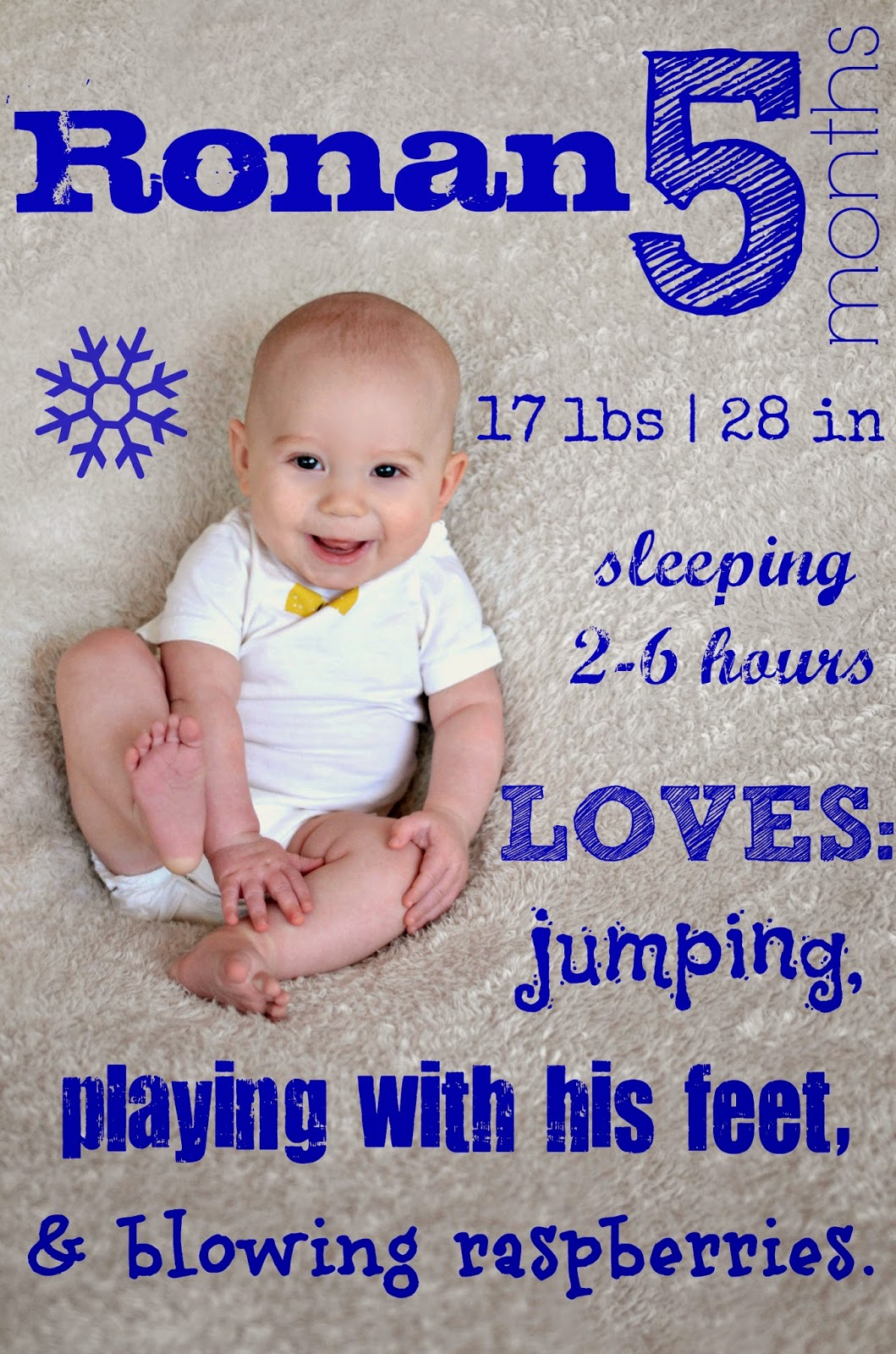 love jenny xoxo: Ronan is 5 months old!