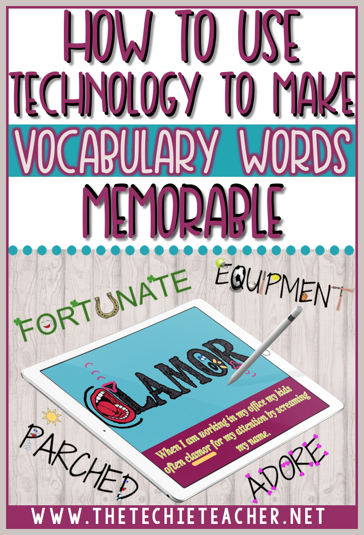 How to use technology to make vocabulary words come alive. Google Drawing for laptops and Chromebooks as well as the PicCollage app for iPads are the two digital tools used to make vocabulary words come alive. Technology in the classroom