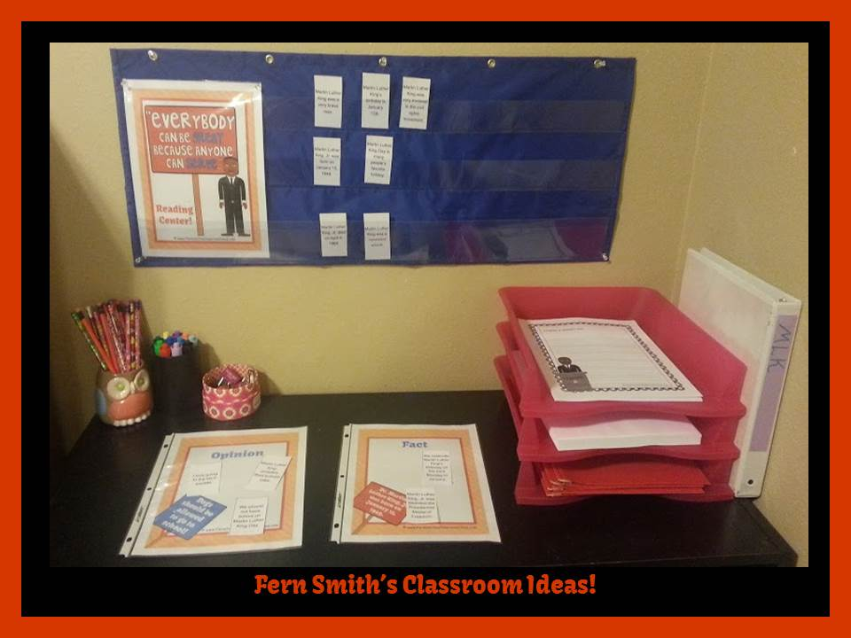Fern Smith's Classroom Ideas Martin Luther King Jr. Literacy Centers