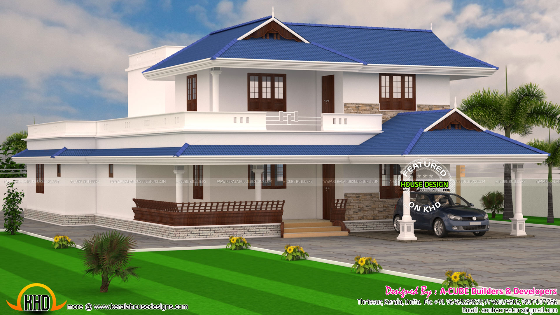4 bedroom kerala model 3176 sq ft home kerala home for Home models in kerala