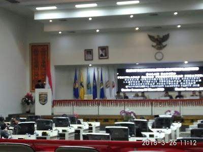 DPRD Lampung Gelar Paripurna Perubahan Program Pembentukan  Peraturan Daerah (PROPEMPERDA) Provinsi Lampung Tahun 2018
