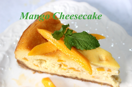 Eclectic Red Barn: Mango Cheesecake Dessert