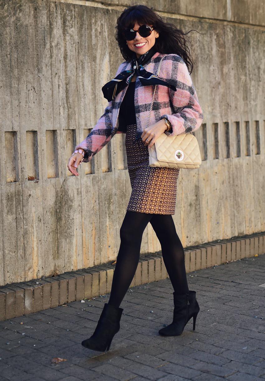 Tweed jacket street style