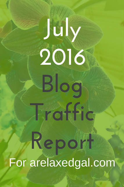I'm sharing my July 2016 traffic report for A Relaxed Gal including what did and didn't work for my blog. | arelaxedgal.com