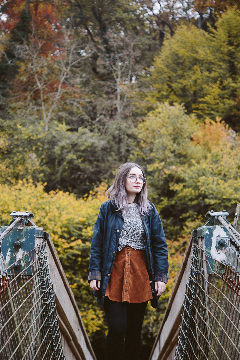 Autumnal Adventures The Outfit Brandy Melville button up Skirt