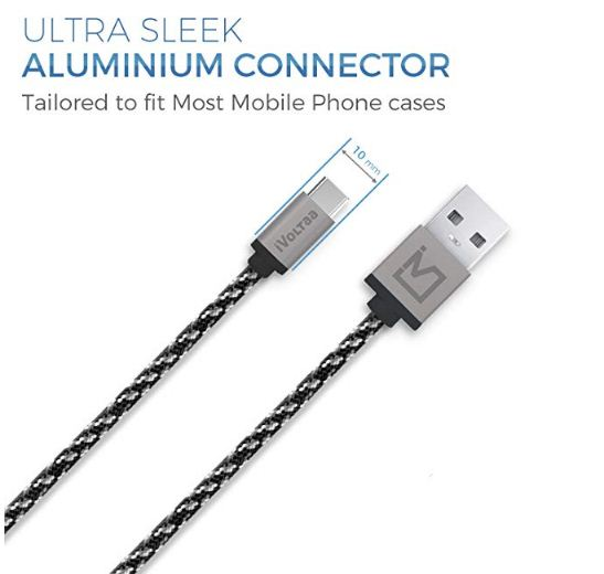 iVoltaa Pixie Type-C to USB Braided Cable
