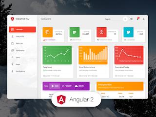 Material Dashboard Angular 2 Admin Template V.1.4.0