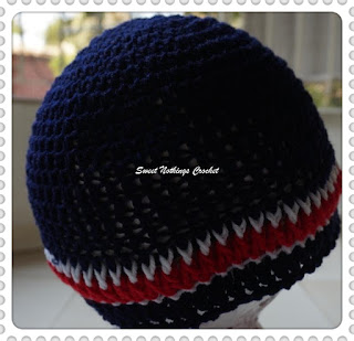 free crochet pattern, crochet headwear for men, crochet beanie for men