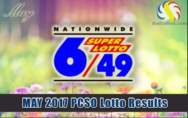 Results: May 2017 SuperLotto 6/49 PCSO Lotto