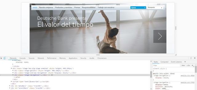 código fuente de la imagen de la bailarina, ubicada en el navegador