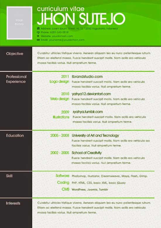 Free Creative Resume Template 11