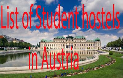 List of Student hostels in Austria / Liste der Studentenwohnheime in Österreich
