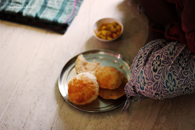how to make Hing er Kochuri / Hing ~ Bengali Asafoetida flavoured Kachori recipe and preparation with step by step pictures