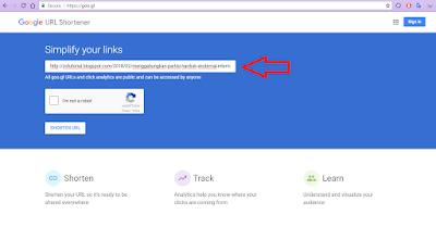 Tutorial Memperpendek Link URL dengan Shortener Google