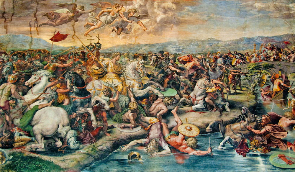 Battle of the Milvian Bridge by Giulio Romano