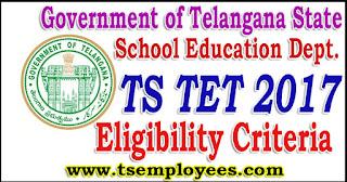 TS TET Eligibility Criteria 2017