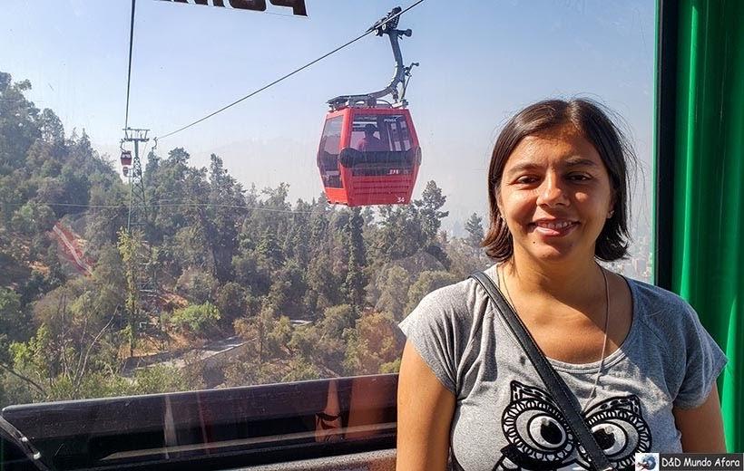 Passeando no Teleférico no Cerro San Cristóbal - o que fazer em Santiago