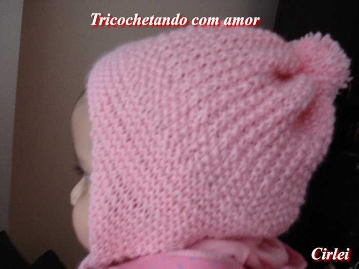 Tricochetando com amor  Gorro Laurinha tapa orelhinhas em tricô 506b86a6ac0