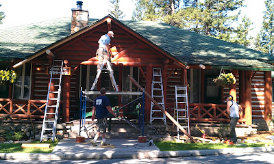renovating log cabin