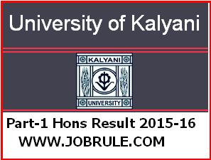 Kalyani University B.A/B.Sc/B.Com Part-1 and LLB Honours Examination 2015 Result Published
