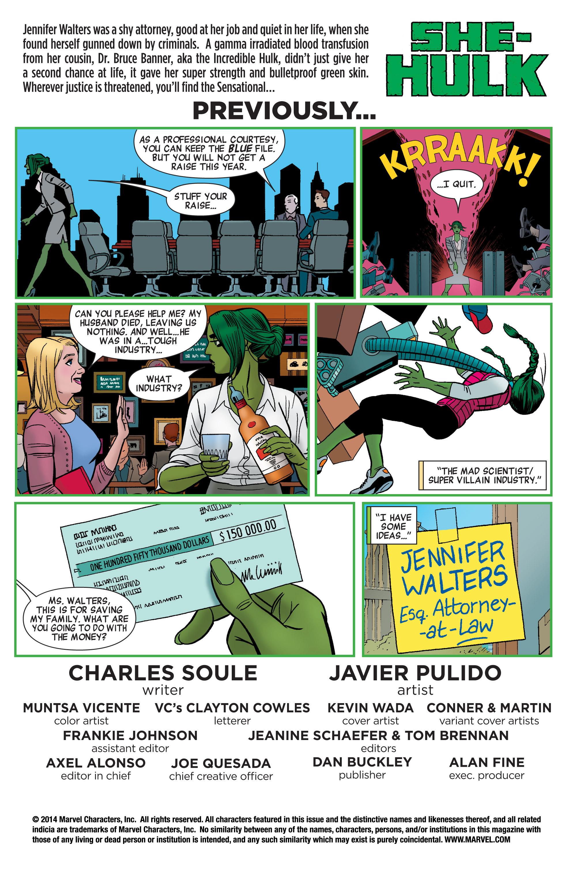 Read online She-Hulk (2014) comic -  Issue #2 - 2