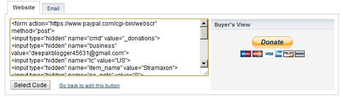 Add a Paypal donate button in Blogspot blog 2012 | StramaXon