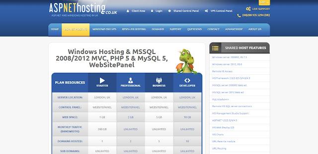ASPNETHosting - ASP.NET Core 1.1 Hosting Plan